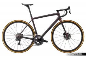 S-Works Aethos Disc 2021Satin Carbon/Red Gold Chameleon/Bronze Foil Shimano Dura-Ace R9170 Di2 11v Roval Alpinist CLX